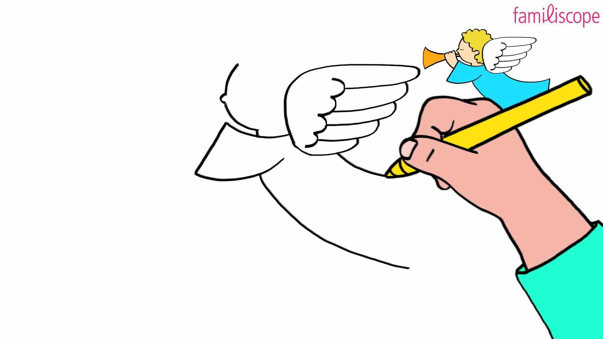 Comment dessiner un ange - Comment dessiner un canape ...